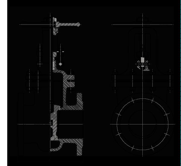 Задвижка стальная литая клиновая 30лс41нжТ