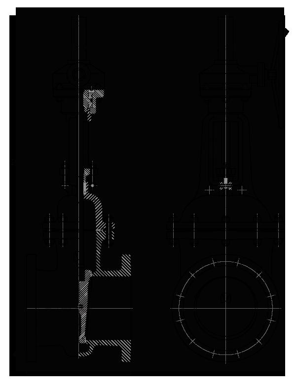 Задвижка стальная клиновая литая 30лс541нж с редуктором