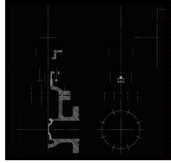 Задвижка стальная клиновая литая 30с576нж