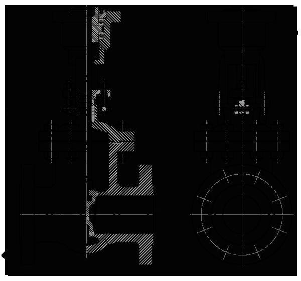 Задвижка стальная клиновая литая 30с915нж