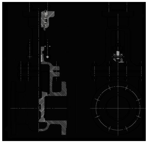 Задвижка стальная клиновая литая 30нж964нж