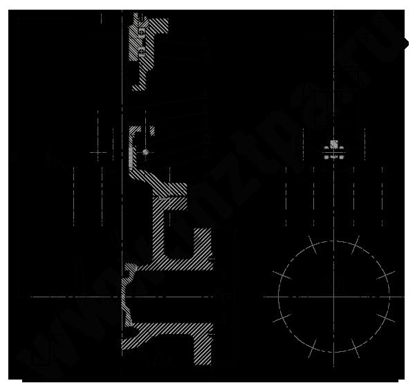 Задвижка стальная клиновая литая 30лс976нж