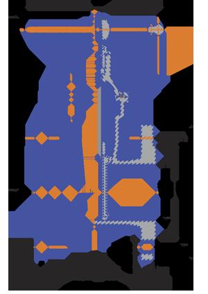 30ч39р Чугунные задвижки с обрезиненным клином сборочный чертеж 1