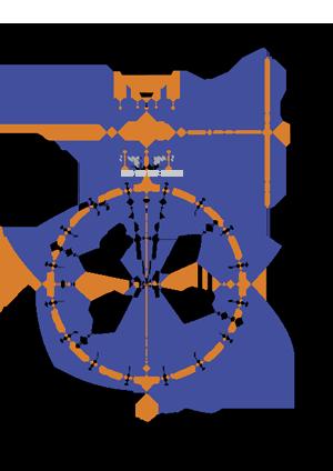 Межфланцевый дисковый затвор с редуктором 32ч524р