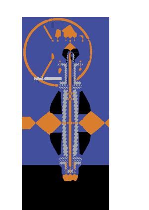 Межфланцевый дисковый затвор с редуктором 32ч524р 2