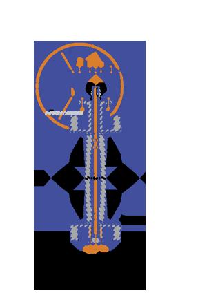 фланцевый затвор с редуктором 32ч524р 2
